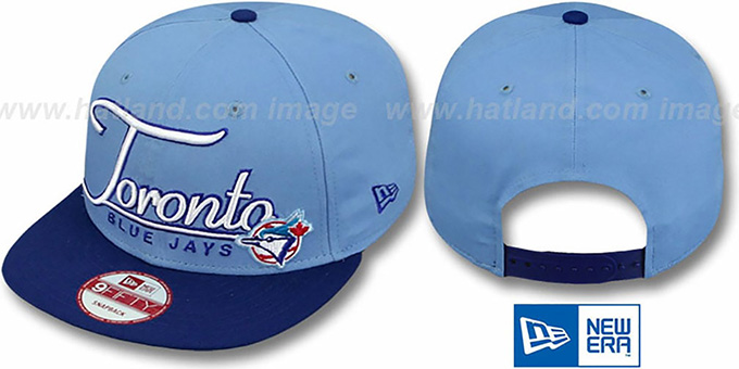 Blue Jays '2T COOP CHARZ SNAPBACK' Sky-Royal Hat by New Era : pictured without stickers that these products are shipped with