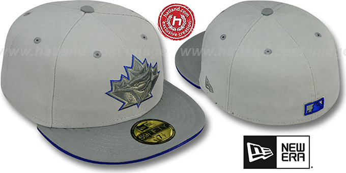Blue Jays '2T COOP GREY-POP' Fitted Hat by New Era : pictured without stickers that these products are shipped with