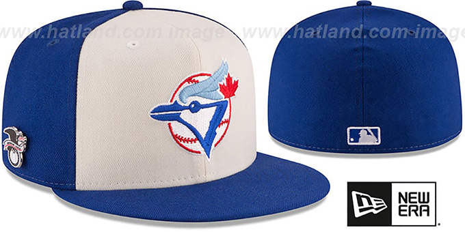 Blue Jays 'AL EAST HERITAGE PIN' Fitted Hat by New Era : pictured without stickers that these products are shipped with
