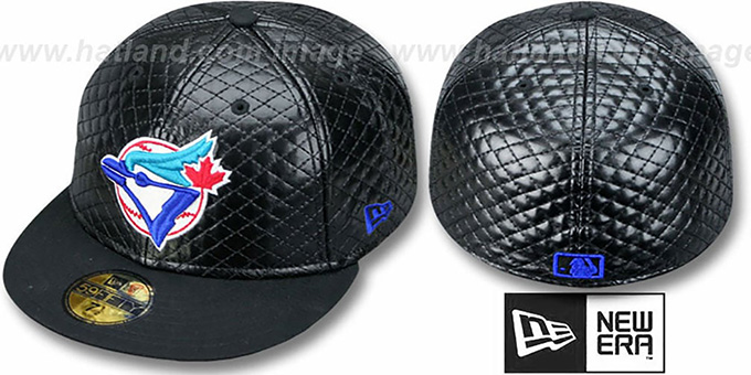b40e6c45e78 Toronto Blue Jays ALT QUILTE Black Fitted Hat by New Era