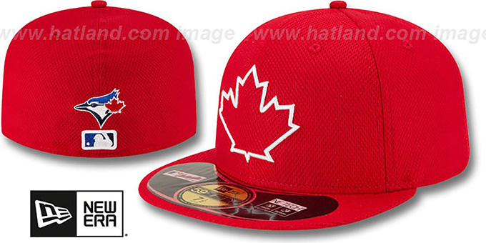 Blue Jays 'ALTERNATE DIAMOND-TECH BP' Hat by New Era : pictured without stickers that these products are shipped with