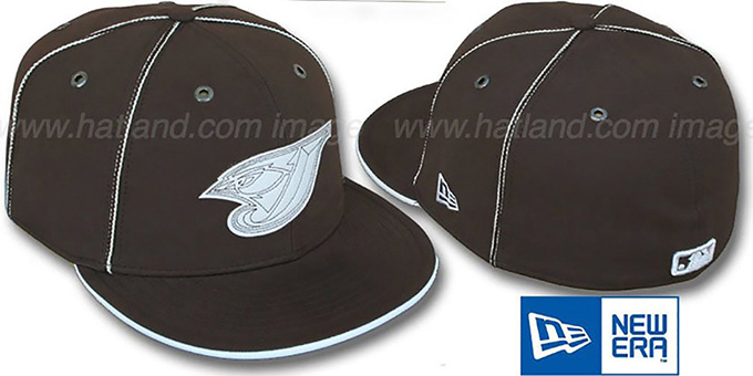 Blue Jays 'CHOCOLATE DaBu' Fitted Hat by New Era : pictured without stickers that these products are shipped with