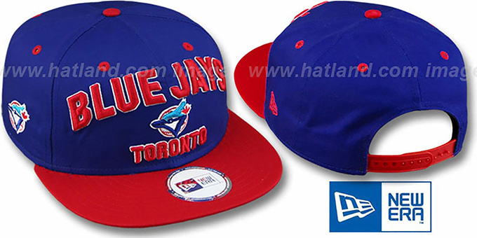 Blue Jays COOP '2T PAYDIRT SNAPBACK' Royal-Red Adjustable Hat by New Era : pictured without stickers that these products are shipped with