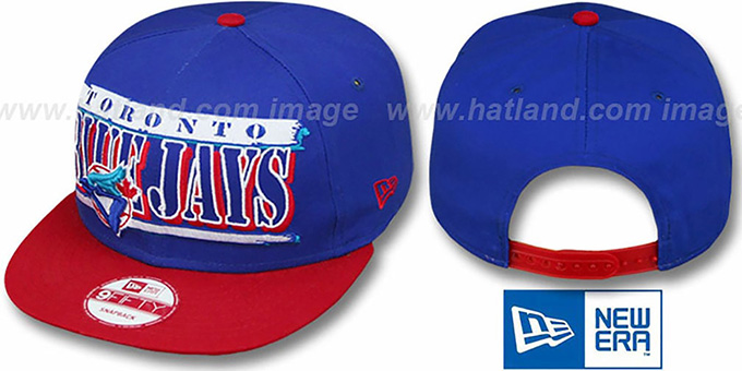 Blue Jays COOP '2T STILL BREAKIN SNAPBACK' Royal-Red Hat by New Era : pictured without stickers that these products are shipped with