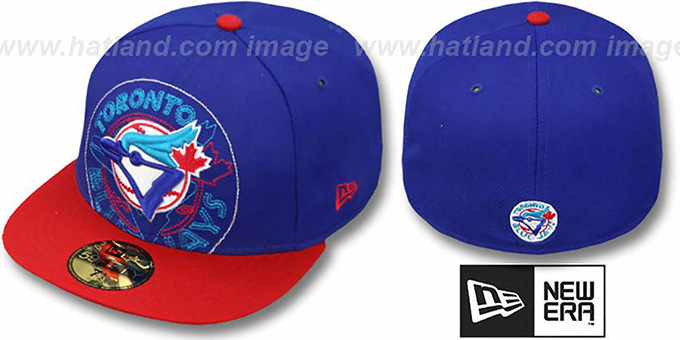 Blue Jays COOP 'NEW MIXIN' Royal-Red Fitted Hat by New Era : pictured without stickers that these products are shipped with
