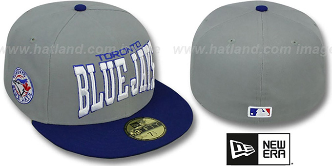 fd768b46ebda86 Blue Jays COOP 'PRO-ARCH' Grey-Royal Fitted Hat by New Era