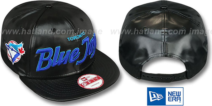 Blue Jays COOP 'REDUX SNAPBACK' Black Hat by New Era : pictured without stickers that these products are shipped with