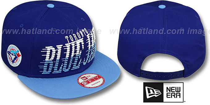 Blue Jays COOP 'SAILTIP SNAPBACK' Royal-Sky Hat by New Era : pictured without stickers that these products are shipped with