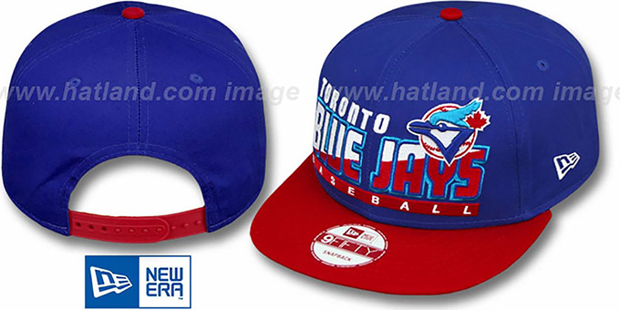 Blue Jays COOP 'SLICE-N-DICE SNAPBACK' Royal-Red Hat by New Era : pictured without stickers that these products are shipped with