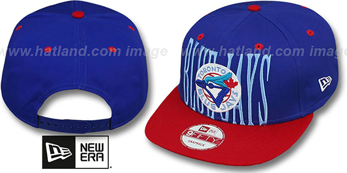 Blue Jays COOP 'STEP-ABOVE SNAPBACK' Royal-Red Hat by New Era : pictured without stickers that these products are shipped with