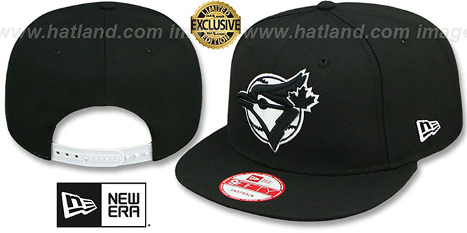 Blue Jays COOP 'TEAM-BASIC SNAPBACK' Black-White Hat by New Era : pictured without stickers that these products are shipped with