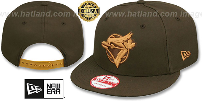 Blue Jays COOP 'TEAM-BASIC SNAPBACK' Brown-Wheat Hat by New Era : pictured without stickers that these products are shipped with
