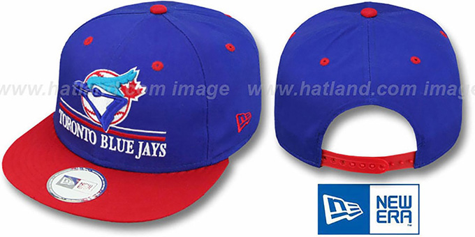 Blue Jays COOP 'UNDERLINE SNAPBACK' Royal-Red Hat by New Era : pictured without stickers that these products are shipped with