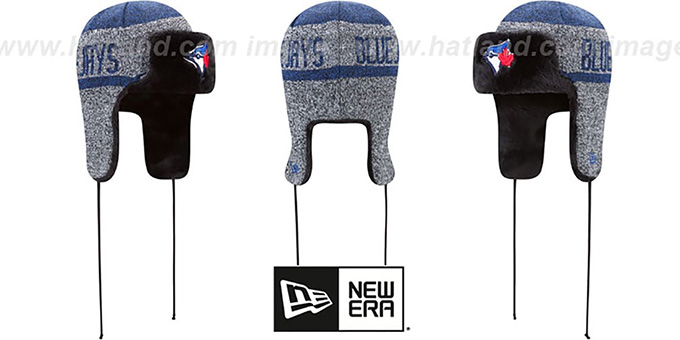 Blue Jays 'FROSTWORK TRAPPER' Royal Knit Hat by New Era