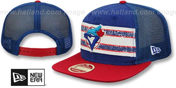 3bcfa164f6b8 Blue Jays  HERITAGE-STRIPE SNAPBACK  Royal-Red Hat by New Era