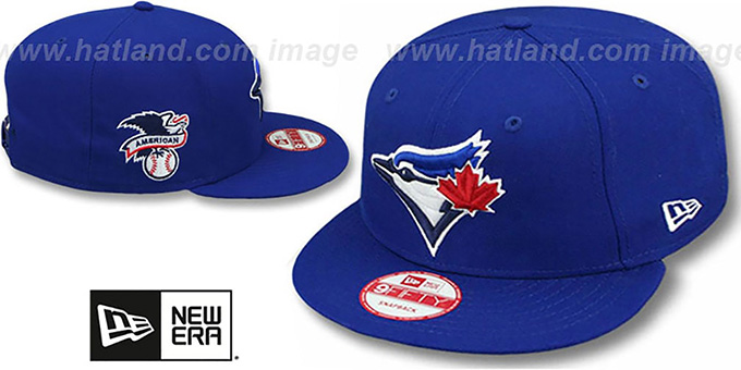 Blue Jays 'LEAGUE REPLICA GAME SNAPBACK' Hat by New Era : pictured without stickers that these products are shipped with