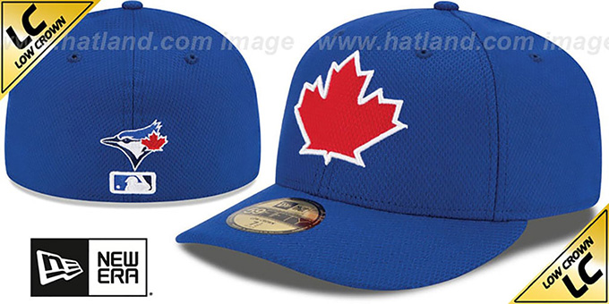 Blue Jays 'LOW-CROWN' ALTERNATE-2 Fitted Hat by New Era : pictured without stickers that these products are shipped with