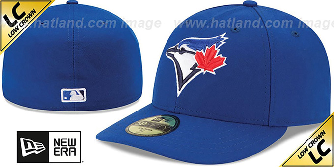 Blue Jays 'LOW-CROWN' GAME Fitted Hat by New Era : pictured without stickers that these products are shipped with