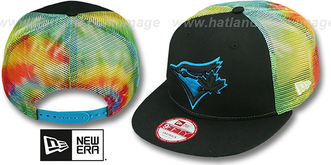 Blue Jays 'MESH TYE-DYE SNAPBACK' Hat by New Era : pictured without stickers that these products are shipped with