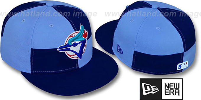 Blue Jays 'MIXER' Royal-Columbia Fitted Hat by New Era : pictured without stickers that these products are shipped with