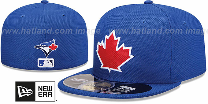Blue Jays 'MLB DIAMOND ERA' 59FIFTY Royal BP Hat by New Era : pictured without stickers that these products are shipped with