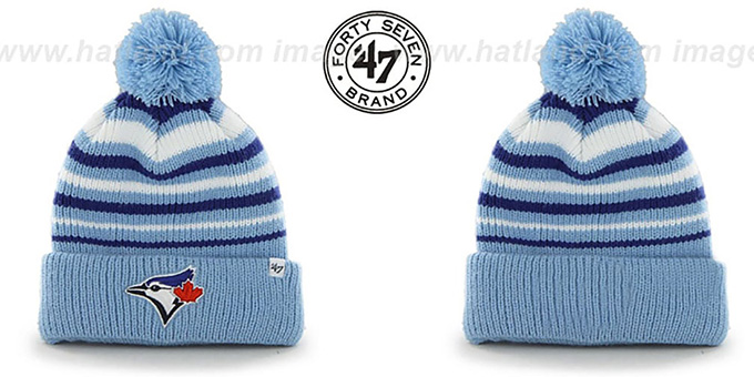 a3807e42a73 Toronto Blue Jays MLB INCLINE Knit Beanie Hat by 47 Brand