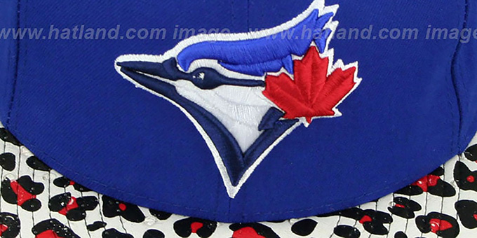 Blue Jays 'OSTRICH-LEOPARD STRAPBACK' Hat by New Era : pictured without stickers that these products are shipped with