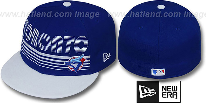 Blue Jays 'PUNCHOUT' Royal-White Fitted Hat by New Era : pictured without stickers that these products are shipped with