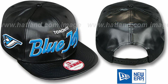 Blue Jays 'REDUX SNAPBACK' Black Hat by New Era : pictured without stickers that these products are shipped with