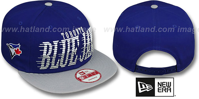 Blue Jays 'SAILTIP SNAPBACK' Royal-Grey Hat by New Era : pictured without stickers that these products are shipped with