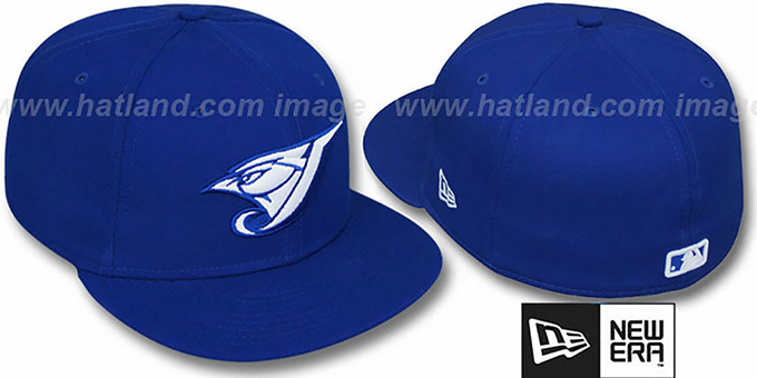 Blue Jays 'TEAM-BASIC' Royal-White Fitted Hat by New Era : pictured without stickers that these products are shipped with