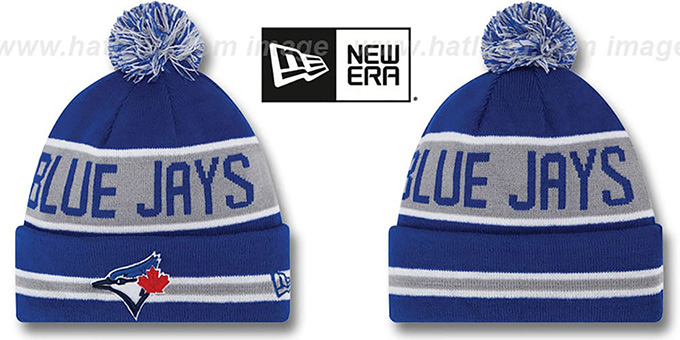 2ae68a22937d8 Toronto Blue Jays THE-COACH Royal Knit Beanie Hat by New Era