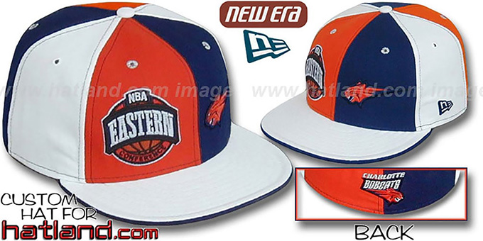 Bobcats CONFERENCE 'DOUBLE WHAMMY' Fitted Hat by New Era : pictured without stickers that these products are shipped with