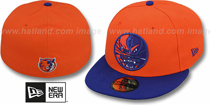 Bobcats 'ESPN INNER LOCKED' Orange-Royal Fitted Hat by New Era