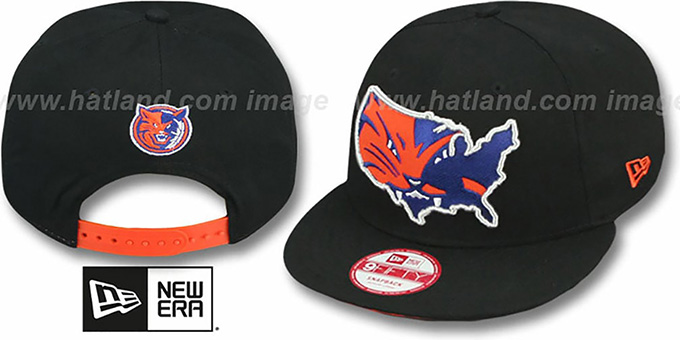 Bobcats 'TEAM-INSIDER SNAPBACK' Black Hat by New Era : pictured without stickers that these products are shipped with