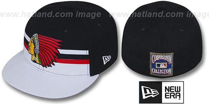 Boston Braves 'HORIZON' Fitted Hat by New Era : pictured without stickers that these products are shipped with