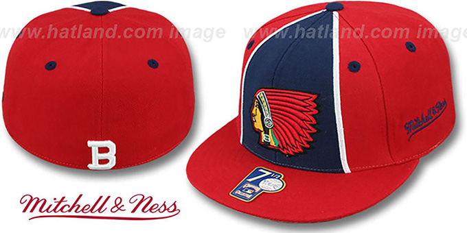 Boston Braves 'ZELLA' Fitted Hat by Mitchell and Ness : pictured without stickers that these products are shipped with