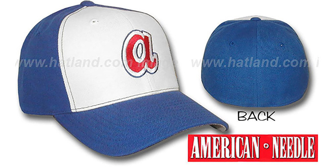 Braves 1970s 'COOPERSTOWN' Hat by American Needle : pictured without stickers that these products are shipped with