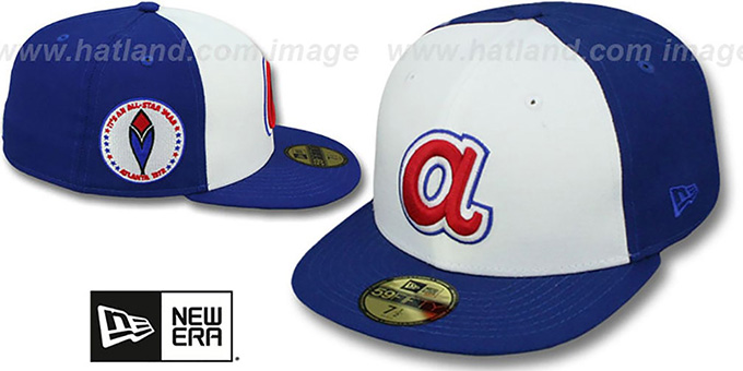 Braves 1972 'SIDE ALL-STAR-PATCH' Fitted Hat by New Era : pictured without stickers that these products are shipped with