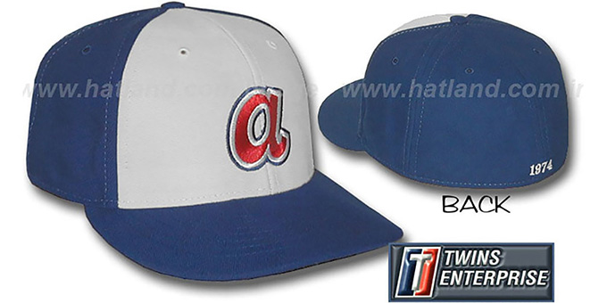 Braves 1974 'COOP' Hat by Twins : pictured without stickers that these products are shipped with