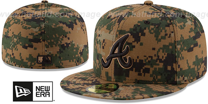 Braves 2016 MEMORIAL DAY 'STARS N STRIPES' Hat by New Era : pictured without stickers that these products are shipped with