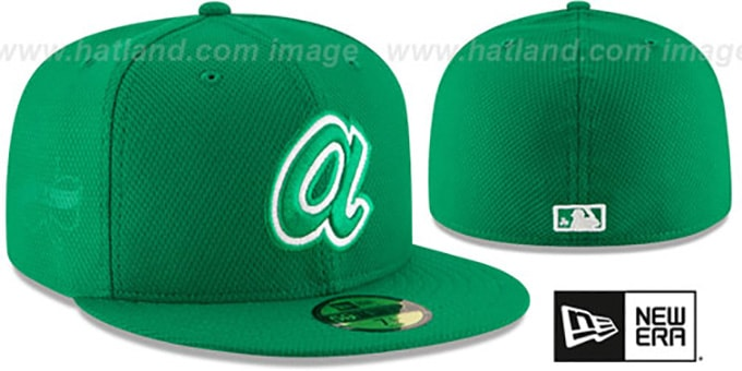 Braves '2016 ST PATRICKS DAY' Hat by New Era : pictured without stickers that these products are shipped with
