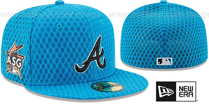 fc3a6bc6164 Braves  2017 MLB HOME RUN DERBY  Blue Fitted Hat by New Era