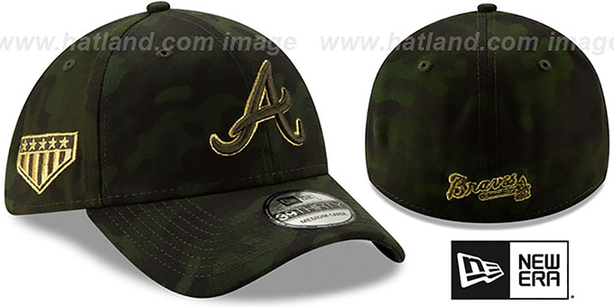 Braves 2019 ARMED FORCES 'STARS N STRIPES FLEX' Hat by New Era