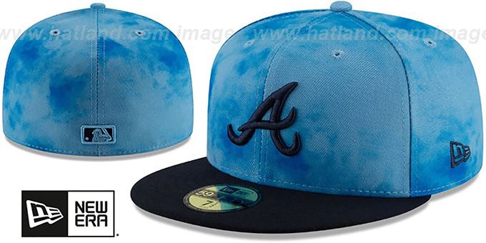 Braves '2019 FATHERS DAY' Fitted Hat by New Era