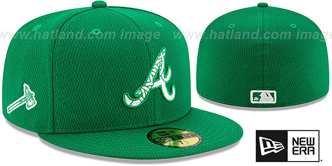 Braves 2020 'ST PATRICKS DAY' Fitted Hat by New Era