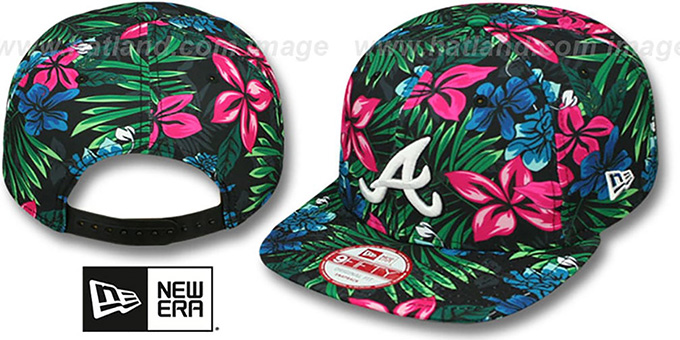 Braves 'AMAZON BLOOM SNAPBACK' Hat by New Era : pictured without stickers that these products are shipped with