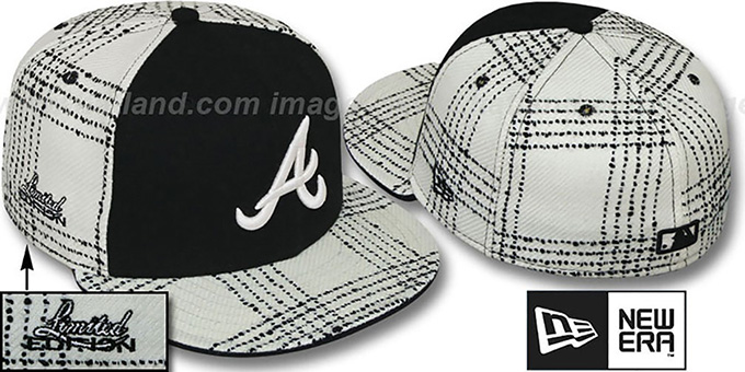 Braves 'ARMANI GOLD STAR' Fitted Hat by New Era : pictured without stickers that these products are shipped with