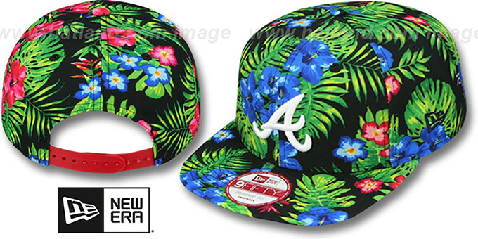 Braves 'BLOOM SNAPBACK' Hat by New Era : pictured without stickers that these products are shipped with