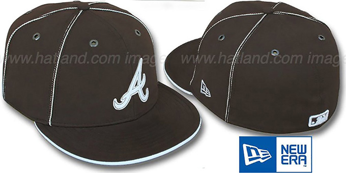 Braves 'CHOCOLATE DaBu' Fitted Hat by New Era : pictured without stickers that these products are shipped with